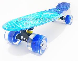 "Пенни борд Penny Style Nickel (28"") светящиеся Ocean Blue (2T2015)"