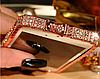 Розовый металлический бампер с камнями для iphone 5/5s Fashion Snake