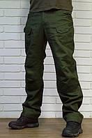 Тактические брюки из плотного хлопка, зеленого цвета