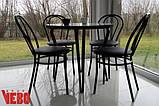 """Комплект """"Чорний тюльпан"""": стіл 80см та 4 крісла , фото 2"""