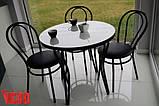 """Комплект """"Чорний тюльпан"""": стіл 80см та 4 крісла , фото 3"""