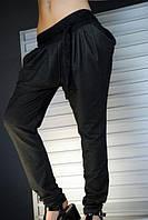 Женские брюки-лосины с кружевным поясом