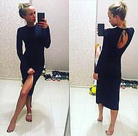 Платье женское по фигуре Цвет винный и чёрный. Трикотаж резинка. супер качество ст №313-420
