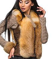 Натуральный женский жилет из лисы (1.6br)