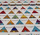 Бязь польская  с разноцветными вигвамами с флажками  на белом фоне, № 903а, фото 4