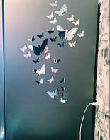 Декор для квартры или офиса 3Д зеркальные бабочки