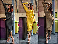 Платье трикотаж-резинка
