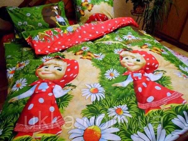 Детское постельное белье полуторное Маша стирка