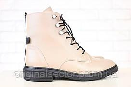 Женские бежевые ботинки демосезонные