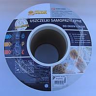 Уплотнитель Р-профиль 9*5,5mm черный Sanok