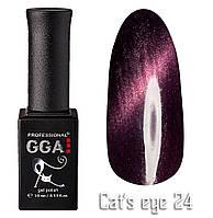 Гель лак GGA Professional Cat's Eye 24 Кошачий Глаз