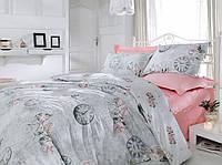 Постельное белье Cotton Box ROSE AND LACE PEMBE двуспальный евро комплект