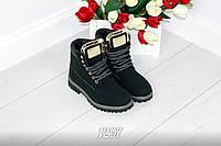 """Ботиночки женские """"Timb """" черные"""