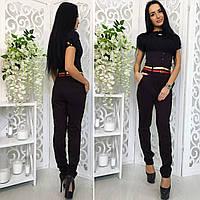 """Женские стильные брюки 352 """"Алекс Корсет Ремешок"""" в расцветках"""