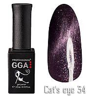 Гель лак GGA Professional Cat's Eye 34 Кошачий Глаз