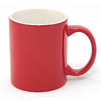 Чашка керамическая красная 340 мл (корпоративные подарки)
