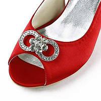 Женская обувь шелк стилет каблук каблуки / пип пальца ноги пятки свадьба / партия& вечер / платье красного 05080215