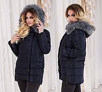 Женская стильная зимняя куртка холлофайбер 6126
