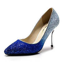 Синий / Серебристый / Золотистый - Женская обувь - Свадьба / Для праздника / Для вечеринки / ужина - Синтетика / Лак - На шпильке -На 04833063