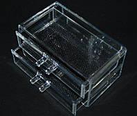 Двухярусный контейнер для косметики и бижутерии SF-1005-3