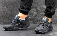 Мужские кроссовки Adidas Swift Gore Tex, демисезонные, черные, нубук