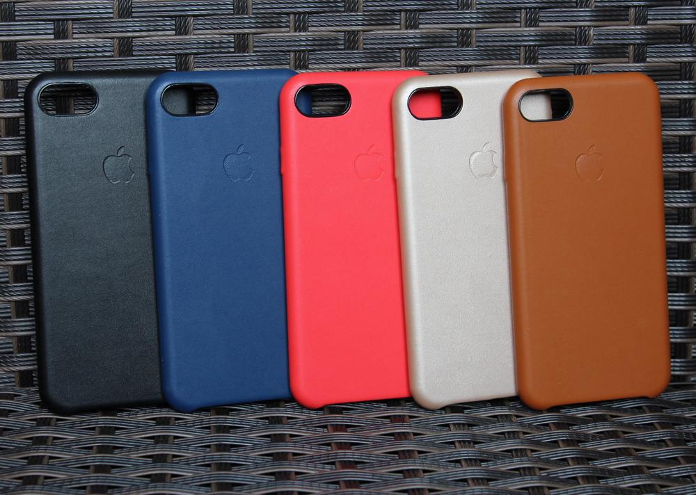 Кожаный чехол Apple для iPhone 7 копия оригинала