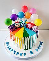 Бисквитный тортик под заказ Малышарики