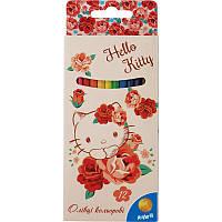 Карандаши цветные Hello Kitty 12 цветов Kite HK15-051K