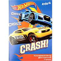Бумага цветная двусторонняя Hot Wheels Kite HW17-250