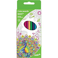 Карандаши цветные двусторонние Kite Антистресс 12 шт /24 цвета K17-054-4