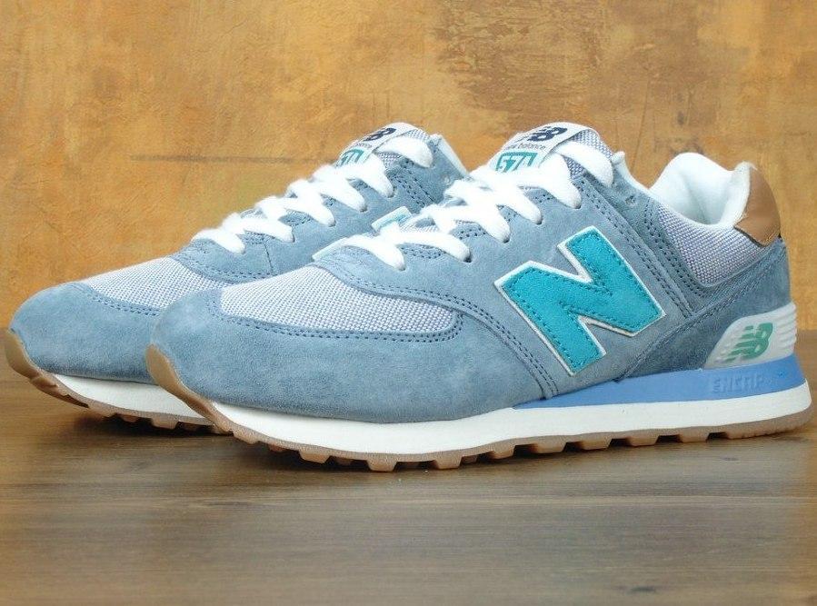 Женские кроссовки New Balance 574 Light Blue
