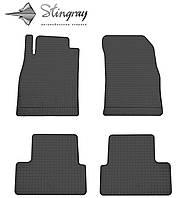 Резиновые коврики Шевроле Круз 2016- Комплект из 4-х ковриков Черный в салон. Доставка по всей Украине. Оплата при получении