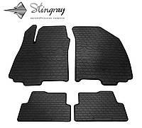 Резиновые коврики Chevrolet Aveo (T300) 2011- Комплект из 4-х ковриков Черный в салон