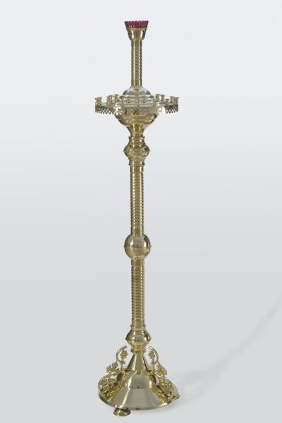 Церковный напольный подсвечник на 26 свечи с литьем