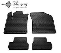 Резиновые коврики Stingray Стингрей CITROEN C3 II 2009-2017 Комплект из 4-х ковриков Черный в салон