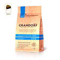 Grandorf Грандорф Белая рыба с бататом для взрослых кошек, GRANDORF White fish & Potato ADULT SENSITIVE, 0,4 кг
