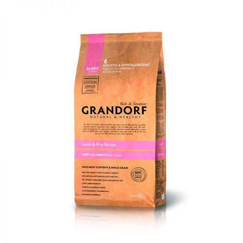 Grandorf Грандорф Ягнёнок с рисом для щенков всех пород, GRANDORF LAMB & RICE PUPPY ALL BREEDS, 1кг, фото 2