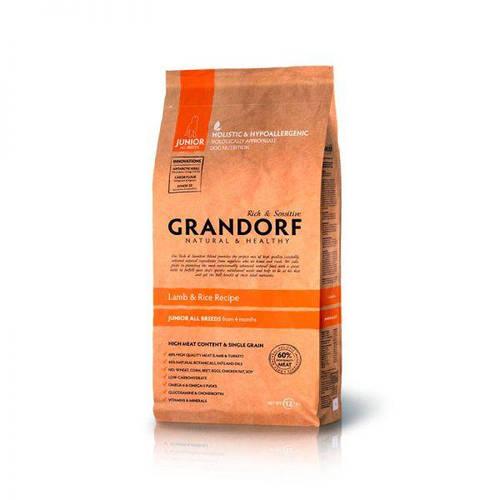 Grandorf Грандорф Ягнёнок с рисом для юниоров всех пород, GRANDORF LAMB & RICE JUNIOR ALL BREEDS, 12 кг, фото 2