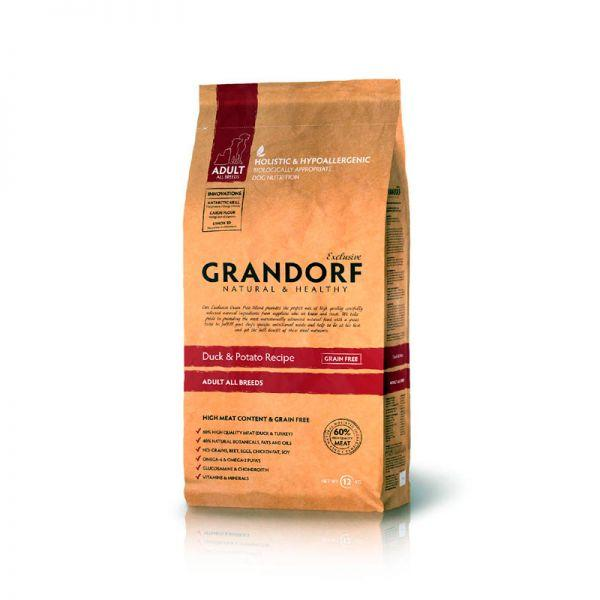 Грандорф Утка с бататом для взрослых собак всех пород, GRANDORF DUCK & POTATO ADULT ALL BREEDS, 12 кг