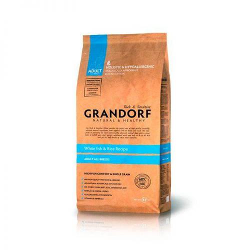 Грандорф Белая рыба с рисом для взрослых собак всех пород, GRANDORF WHITE FISH & RICE ADULT ALL BREEDS. 3 кг, фото 2
