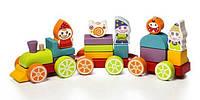 Деревянная игрушка Поезд Сокровища Гномиков LP-4 Cubika