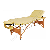 Массажный стол 3-х секционный HouseFit HY-30110-1.2.3 бежевый