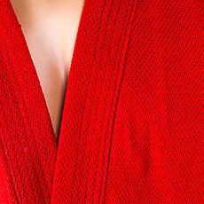 Кимоно для самбо Mizuno красная 500г/м2 красный Размер 140 см SMR-581, фото 3