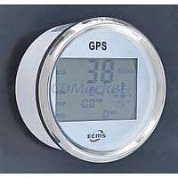 ECMS GPS спидометр с компасом ECMS PLG2-WS-GPS белый 52мм