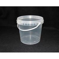 Ведро пищевое 2.3л(пластиковое) прозрачное