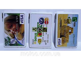 Зажигалка в виде банковской карты.
