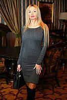 """Облегающее трикотажное мини-платье """"Косичка"""" с длинным рукавом"""