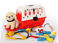 Игровой набор доктора 231 в чемодане с собачкой (9 предметов)