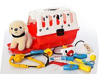Игровой набор доктора 231 в чемодане с собачкой (9 предметов), фото 1