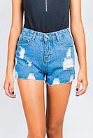 Шорты женские модные с карманами AG-0004105 Синий